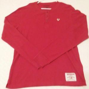 Men's XL True Religion thermal shirt